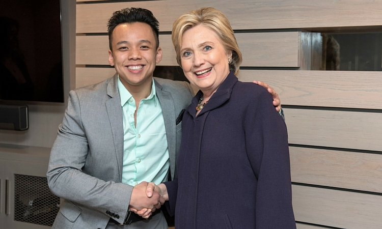 Andy Duong & Hillary Clinton